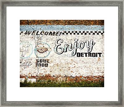 Enjoy Detroit Framed Print