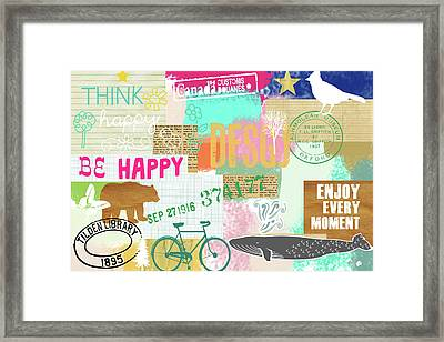 Enjoy Every Moment Collage Framed Print
