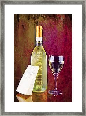 Enjoy Life White Wine Glass Framed Print by Tommytechno Sweden