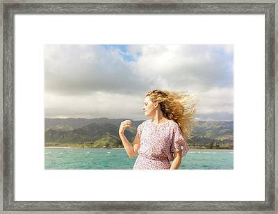 Enjoy The Breeze Framed Print
