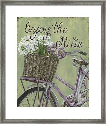 Enjoy The Ride Framed Print by Debbie DeWitt
