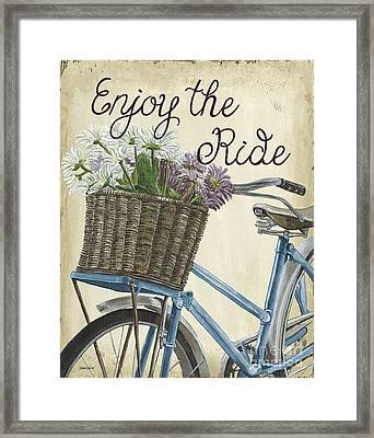 Enjoy The Ride Vintage Framed Print by Debbie DeWitt