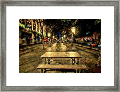 Enjoy The View Framed Print
