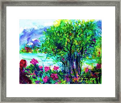 Enjoy With The Nature Framed Print