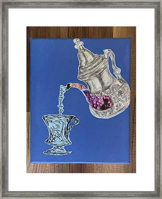 Enjoy Yo Tea Framed Print