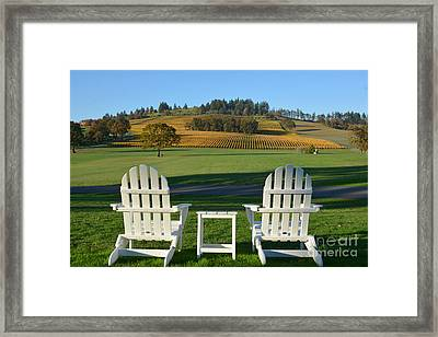 Enjoying Oregon Wine Country Framed Print