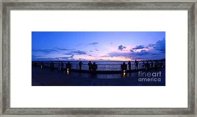 Framed Print featuring the photograph Enjoying The Beautiful Evening Sky by Yali Shi