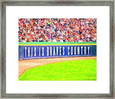 Enjoying The Game In Brave's Country Framed Print