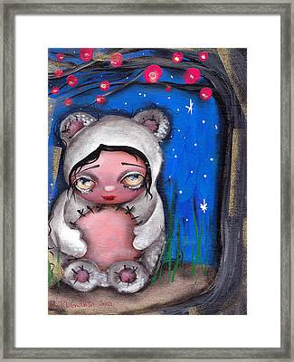 Enjoying The Night Framed Print by  Abril Andrade Griffith