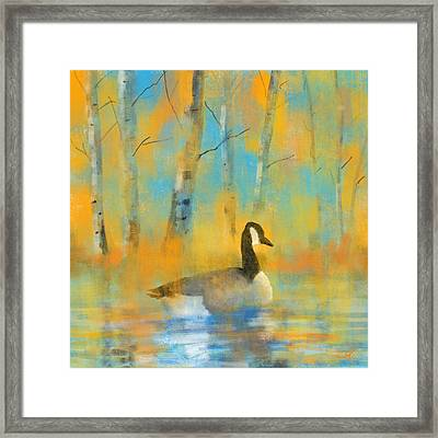 Enjoying The Pond Framed Print