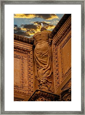 Framed Print featuring the photograph Enjoying The Sunset by Harry Spitz