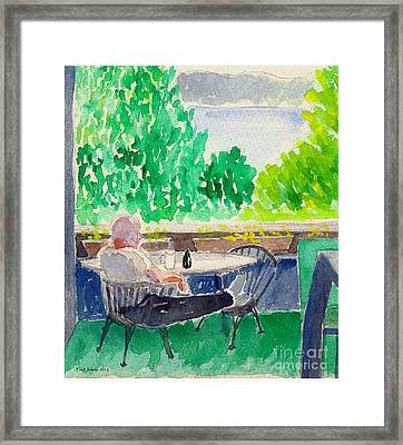 Enjoying The View-detail Framed Print by Fred Jinkins