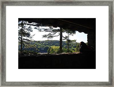 Framed Print featuring the photograph Enjoying The View II by Greg DeBeck