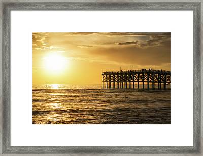 Enjoying The View Framed Print by Joseph S Giacalone