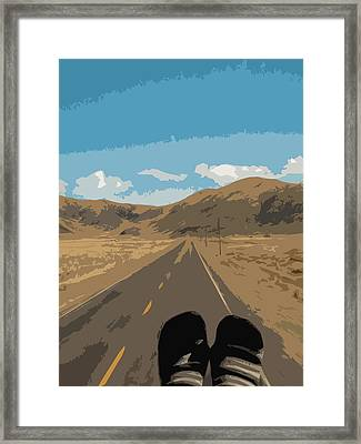 Enjoying The View Of The Peruvian Countryside Framed Print