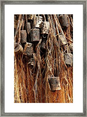 Framed Print featuring the photograph Enkhuizen Fishing Nets by KG Thienemann