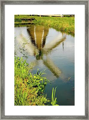 Framed Print featuring the photograph Enkhuizen Windmill by KG Thienemann