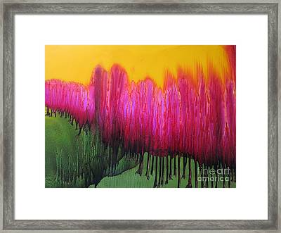 Enlighted Forest Framed Print by Susan Parsley