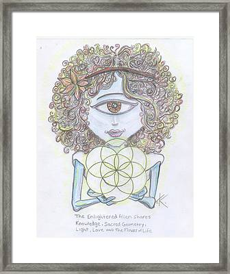 Enlightened Alien Framed Print