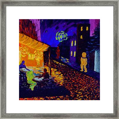 Enlightened Beings At Night Framed Print by Lisa Elizabeth