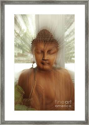 Framed Print featuring the photograph Enlightened Buddha by Christine Amstutz