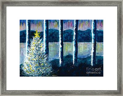 Enlightened Forest  Framed Print