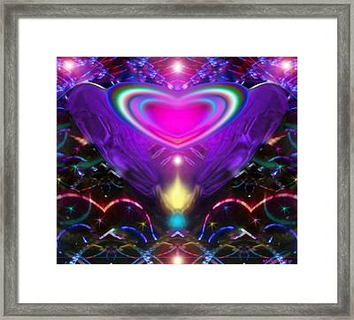 Enlightened Heart Framed Print by Eliza Lily G