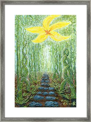 Enlightened Path/ Hana's Gateway Framed Print by Podge Elvenstar