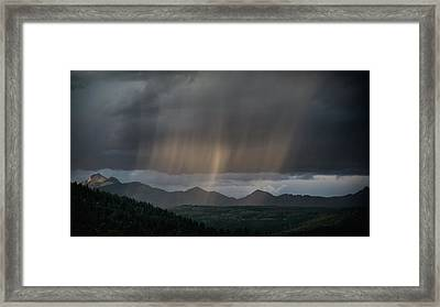 Enlightened Shafts Framed Print by Jason Coward