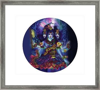 Enlightened Shiva Framed Print