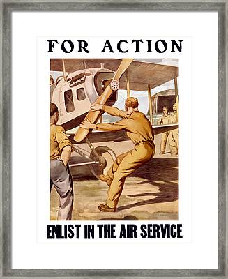 Enlist In The Air Service Framed Print