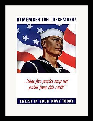 Us Navy Mixed Media Framed Prints