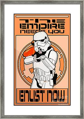Enlist Now Framed Print by Jerrett Dornbusch