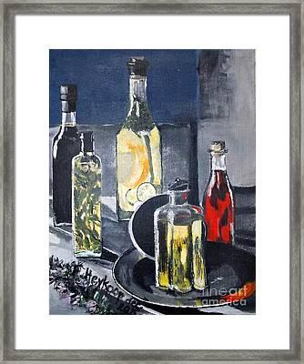 Enliven Salads Framed Print by Francine Heykoop