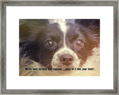 Ennis Quote Framed Print by JAMART Photography