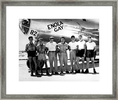 Enola Gay. The Ground Crew Of The B-29 Framed Print