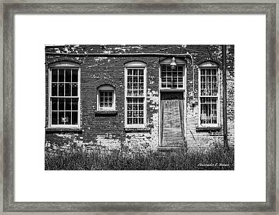 Enough Windows - Bw Framed Print by Christopher Holmes