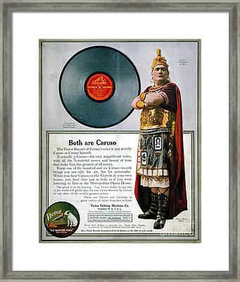 Enrico Caruso (1873-1921) Framed Print by Granger