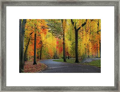 Framed Print featuring the photograph  Ensconced In Autumn by Jessica Jenney