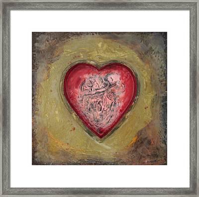 Enshrine - Inward Heart Framed Print