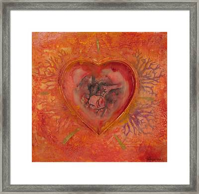 Enshrine - Outward Heart Framed Print
