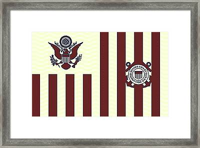 Ensign Of The United States Coast Guard 3 Framed Print