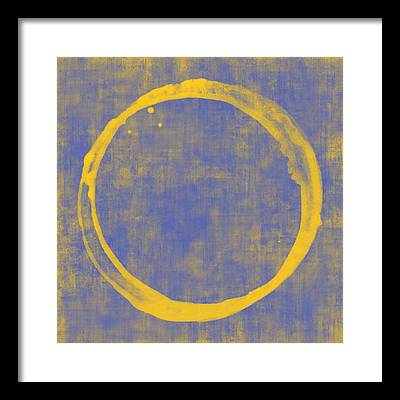 Enso Circle Framed Prints