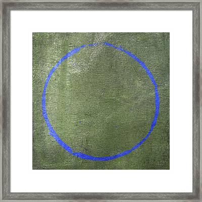 Framed Print featuring the digital art Enso 2017-17 by Julie Niemela