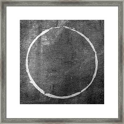 Framed Print featuring the digital art Enso 2017-22 by Julie Niemela