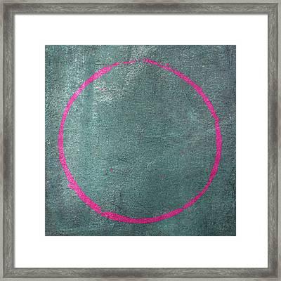 Framed Print featuring the digital art Enso 2017-23 by Julie Niemela