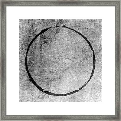 Framed Print featuring the digital art Enso 2017-24 by Julie Niemela