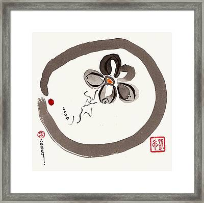 Enso Aven Framed Print by Casey Shannon