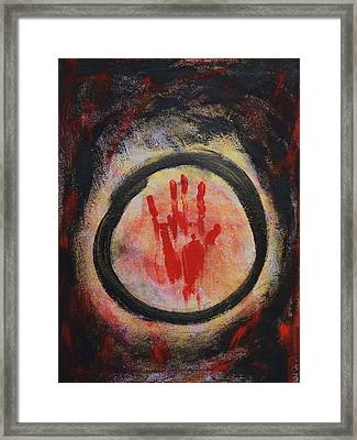 Enso - Confine Framed Print by Marianna Mills