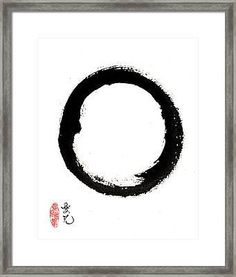 Enso Enlightenment Framed Print